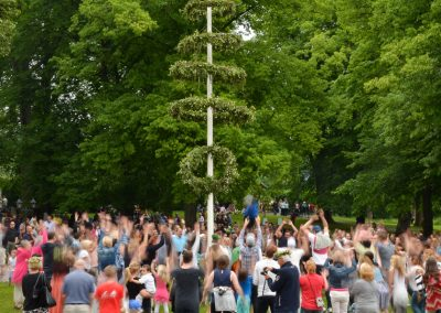 Midsummer celebrations, dancing around the may pole