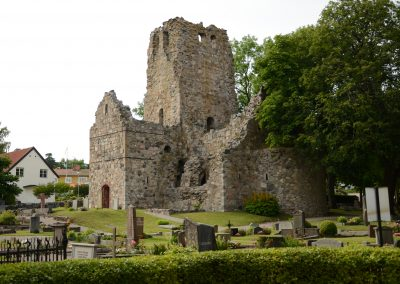A ruin in Sigtuna, the oldest city in Sweden