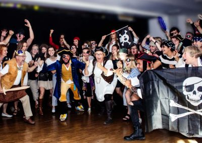 "Let the battle begin! - From the Farewell Dinner themed ""Pirates vs. Vikings"""