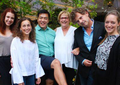Personal från sommaren 2018. Från vänster - Kelly, Felicia, Nelleke, Ruud och Emma