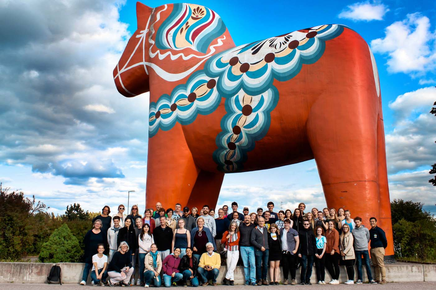 Friday Trip to Falun and Dalarna calls for a stop by the Dala Horse